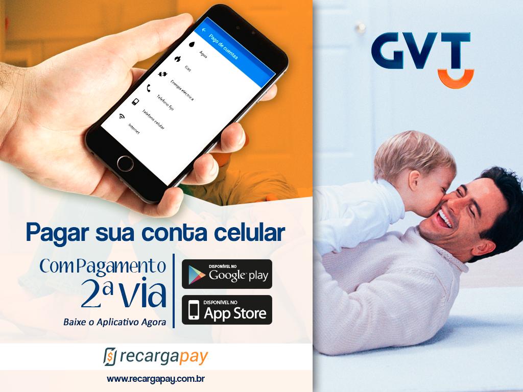 Pague sua conta GVT online pelo celular
