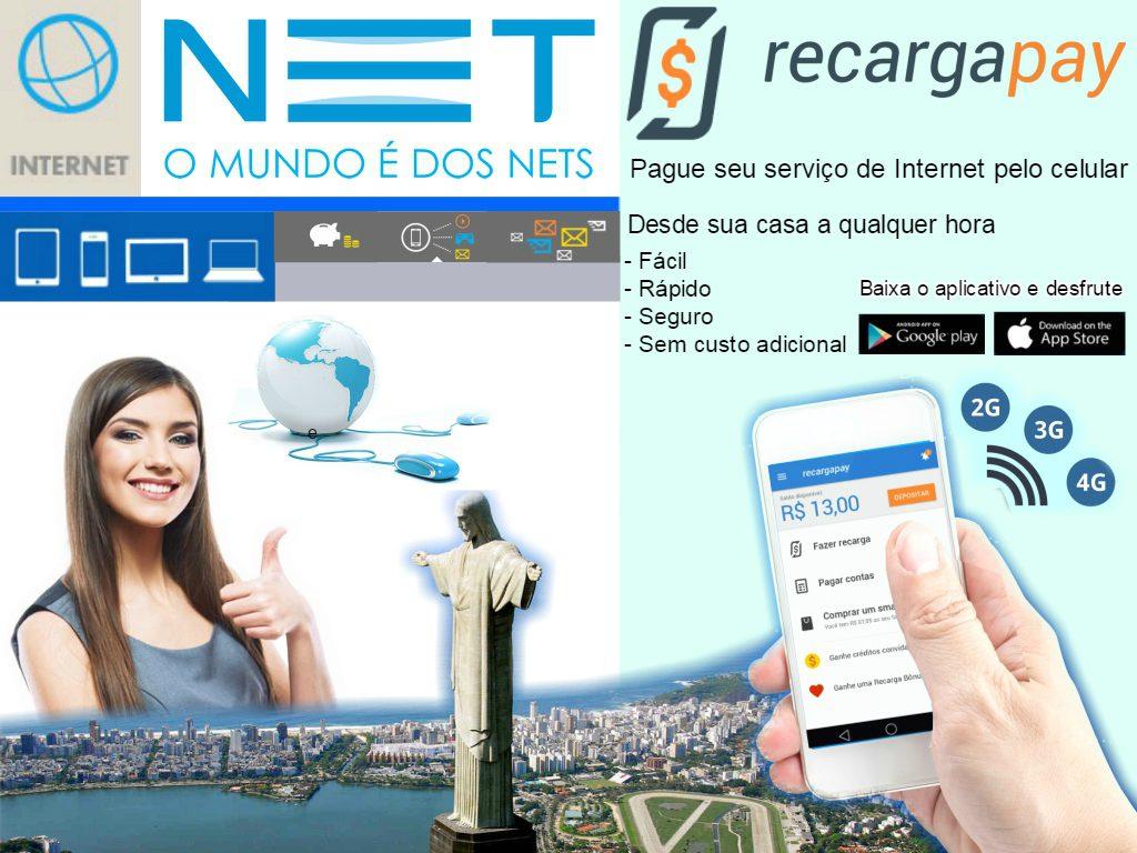 Pague sua segunda via de internet Net pelo celular em Rio de Janeiro
