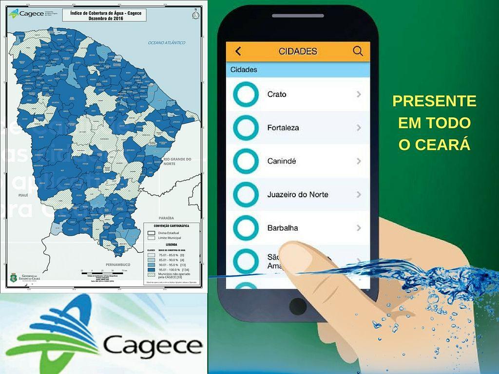 Cagece provee a 98% de todo o estado do Ceará