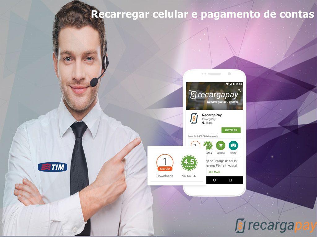 Recarregar saldo de contas TIM pelo celular em Sao Paulo
