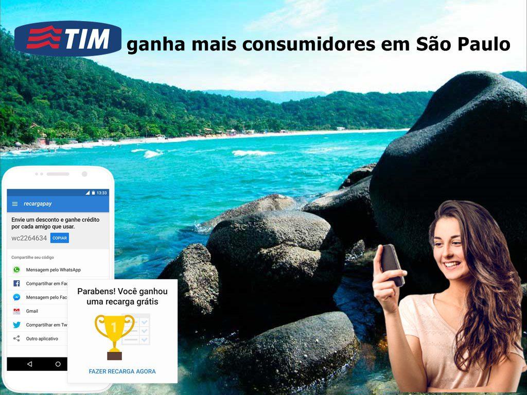 TIM ganha mais consumidores em serviços de Internet e telefonia móvel em São Paulo