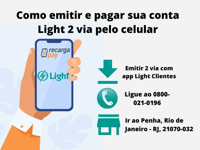 Como emitir e pagar sua conta Light 2 via pelo celular