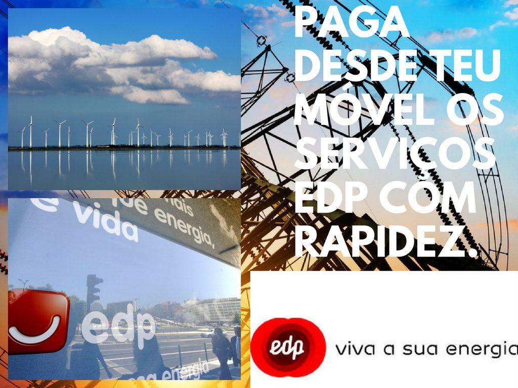 Paga a tempo qualquer de tuas contas com EDP desde teu móvel