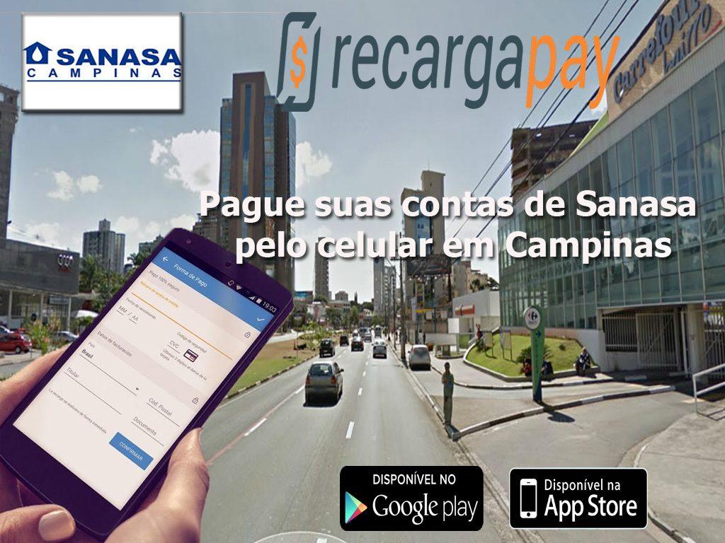 Pague suas contas de Sanasa pelo celular em Campinas