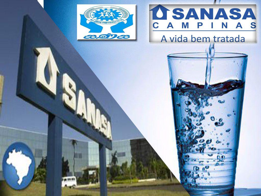 Empresa de água Sanasa em Campinas e seus servicos