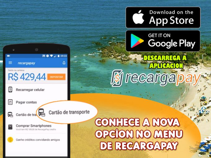 Descarrega esta app e recarga teu bilhete unico em Sao Paulo
