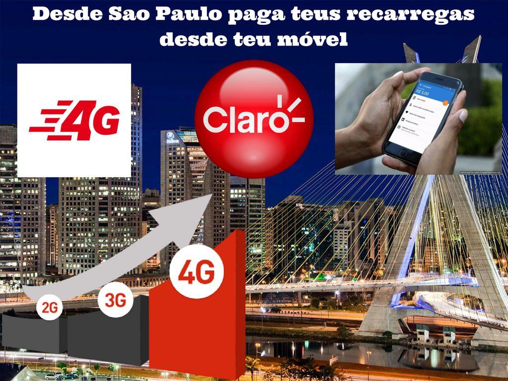 Faz tuas recarregas de Claro em teu móvel desde Sao Paulo