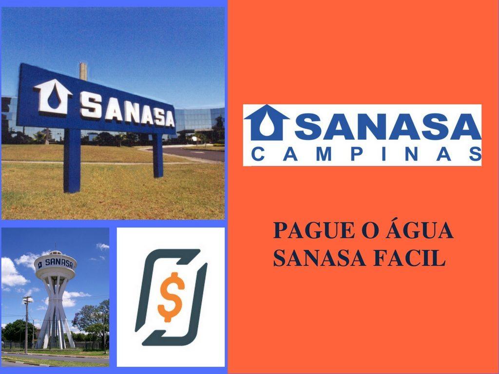 Pague sua conta de água Sanasa online pelo celular em campinas