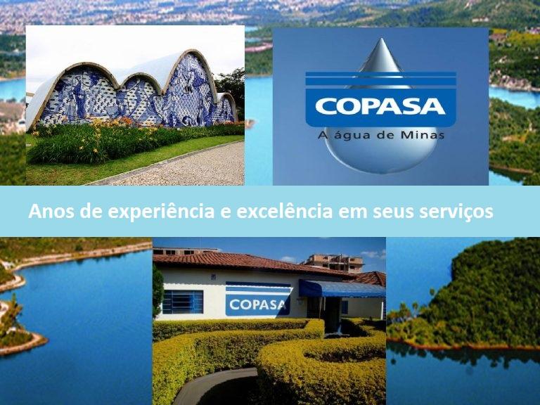 Copasa, uma empresa com anos de experiência e conhecida por sua eficácia