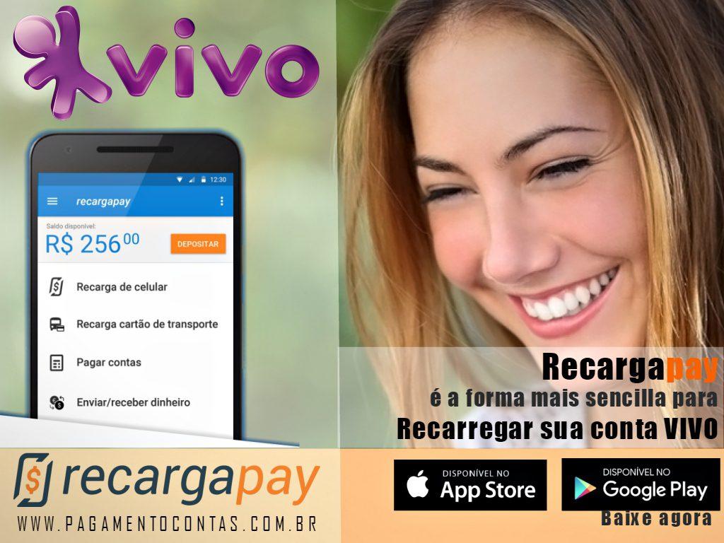 Faça o Pagamento pelo celular de sua conta de celular VIVO com Recargapay