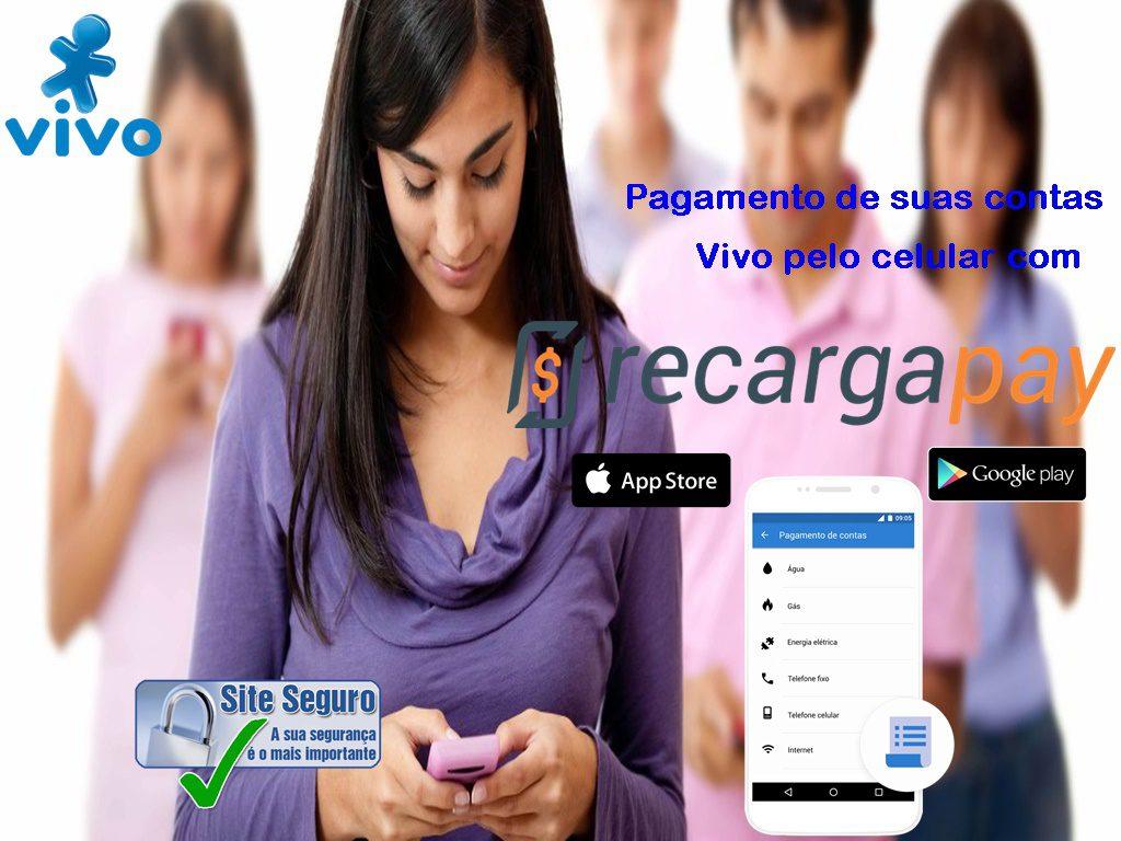 Faça o pagamento de sua conta de celular Vivo pelo celular em Sao Paulo
