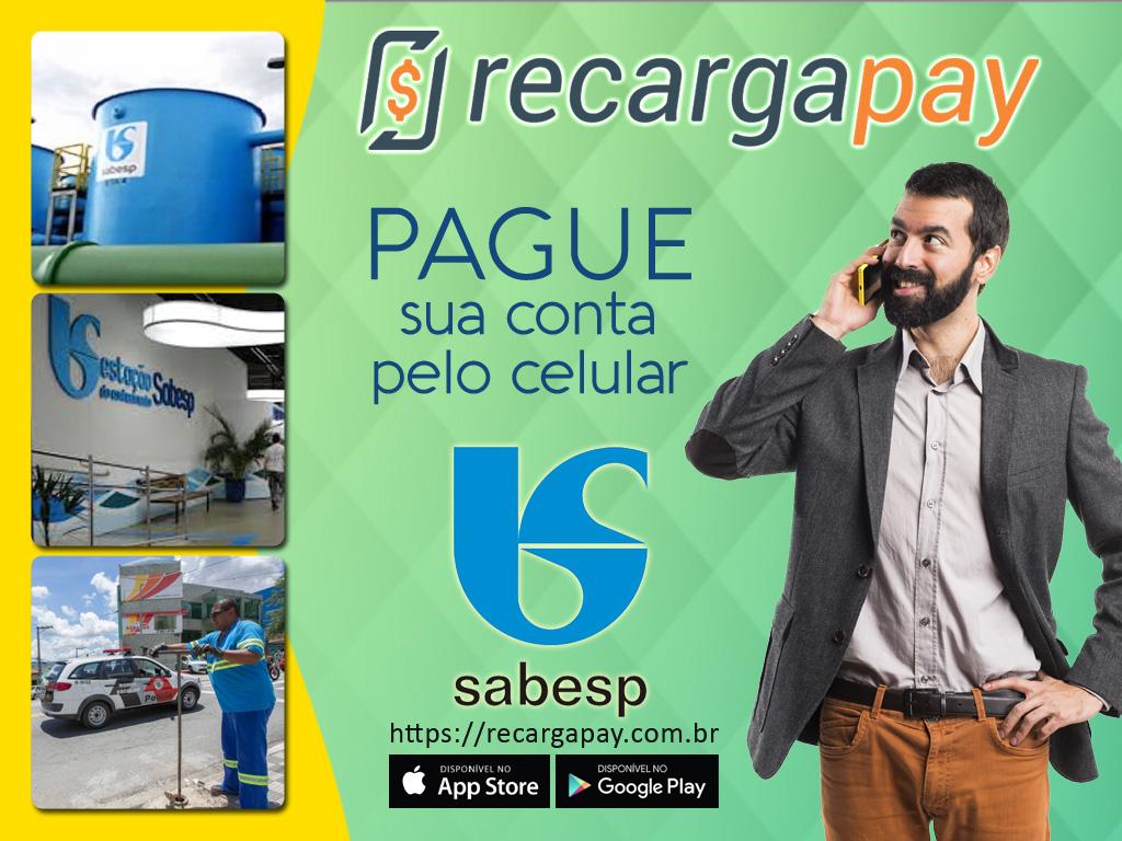 Pague sua conta de água Sabesp pelo celular