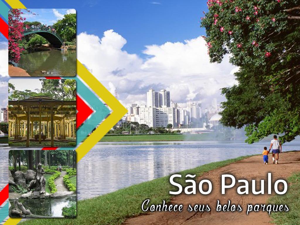 Formosos parques na cidade de São Paulo