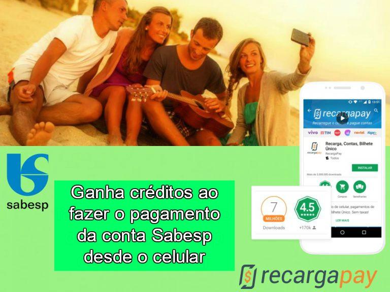 Ganha créditos ao fazer o pagamento da conta Sabesp desde o celular