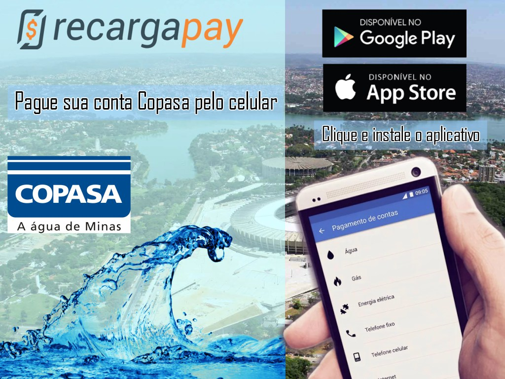App para pagar a conta de água Copasa pelo celular