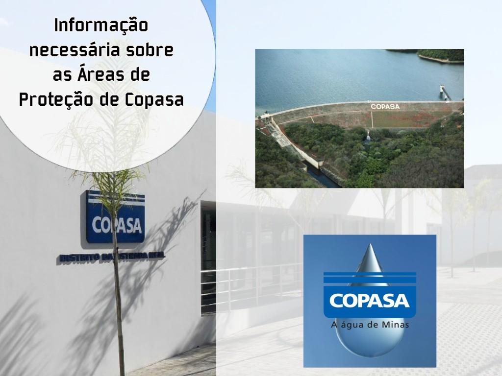 Informação necessária sobre as Áreas de Proteção de Copasa.