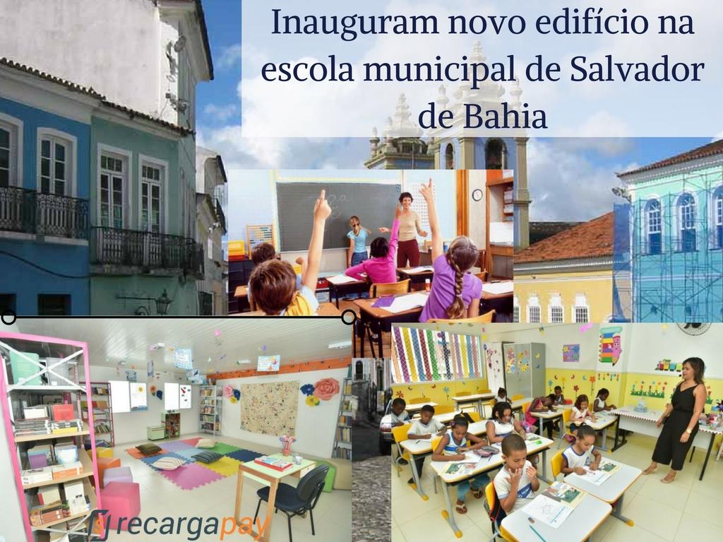 Imagens do novo colégio em Salvador de Bahia