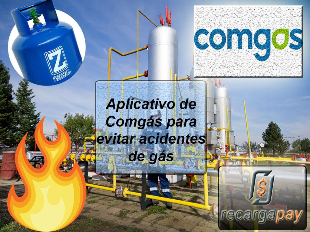 Aplicativo de Comgás para evitar acidentes de gás