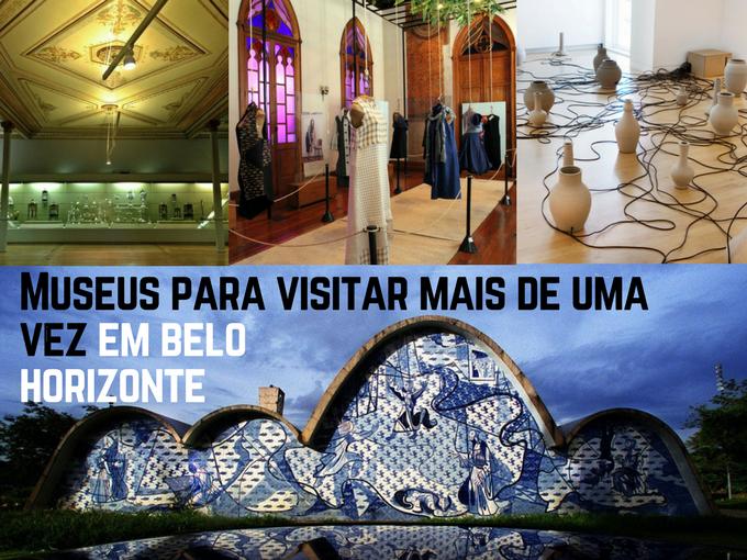 Mueus em belo Horizonte. Museo de Arte Pampulha, Museo Mineiro, Museo da moda