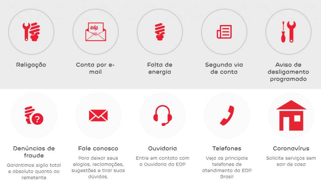 Pague conta EDP contato