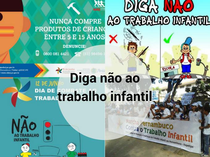 Campanha contra o trabalho infantil em Pernambuco