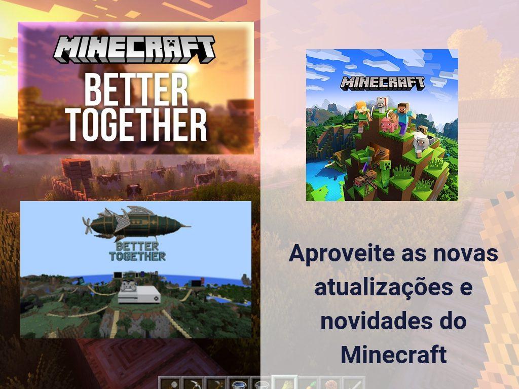 Aproveite as novas atualizações e novidades do Minecraft