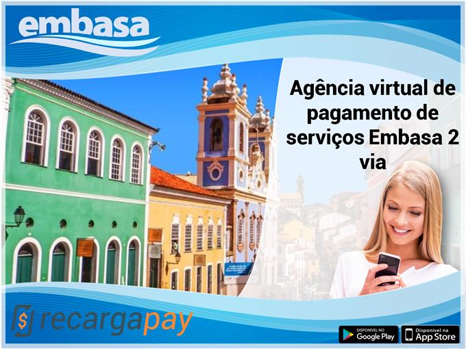 Agência virtual de pagamento de serviços Embasa 2 via