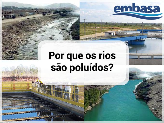Por que os rios são poluídos de acordo com a Embasa?