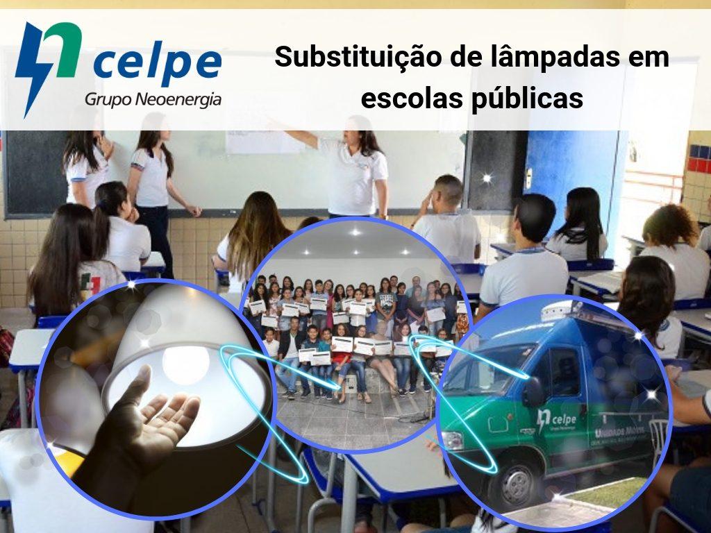 Celpe conseguiu substituir mais de 5 mil lâmpadas em escolas públicas