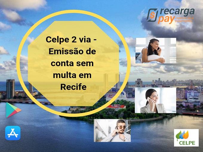 Celpe 2 via - Emissão de conta sem multa em Recife