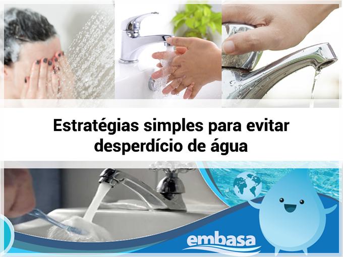 Embasa: estratégias simples para evitar desperdício de água