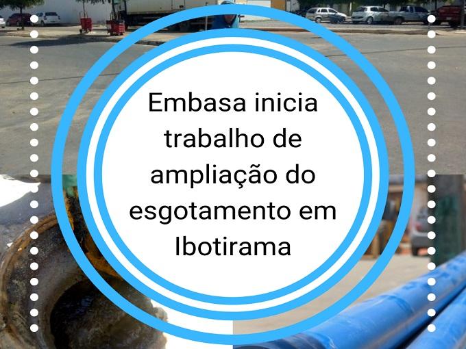 Embasa inicia trabalho de ampliação do esgotamento em Ibotirama