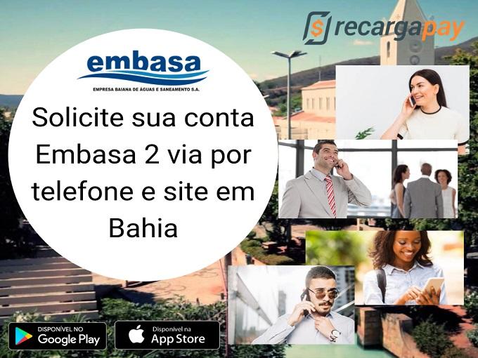Solicite sua conta Embasa 2 via por telefone e site em Bahia