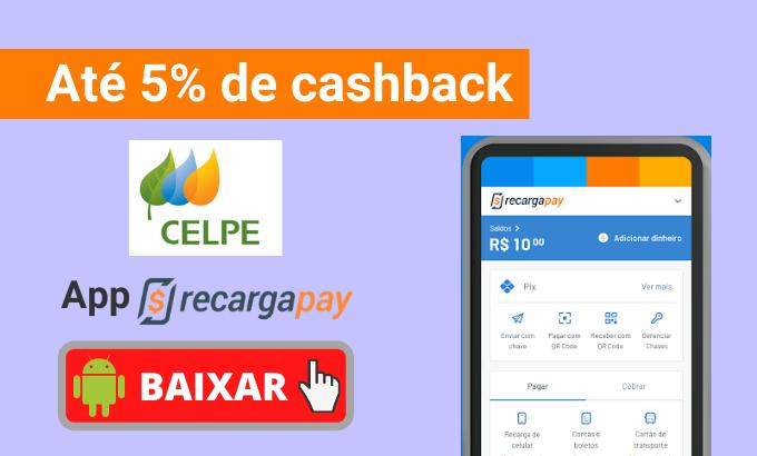 Até em 5% de cashback com RecargaPay