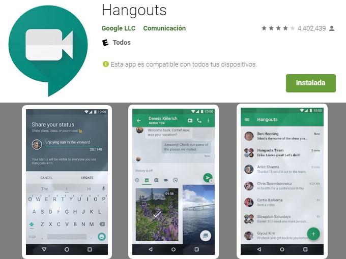 Reuniões durante o coronavírus com Hangouts