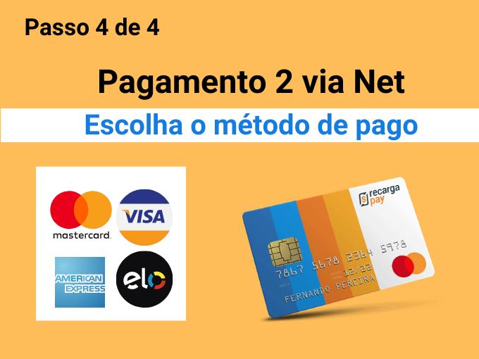 Escolha o método de pago