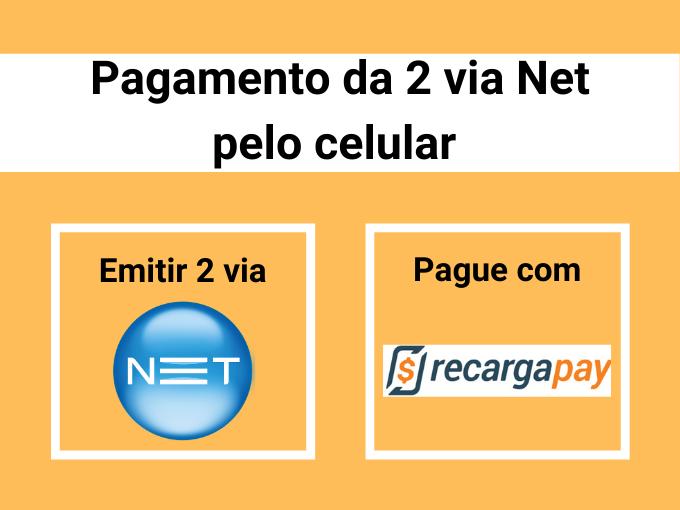 Pagamento da 2 via Net pelo celular