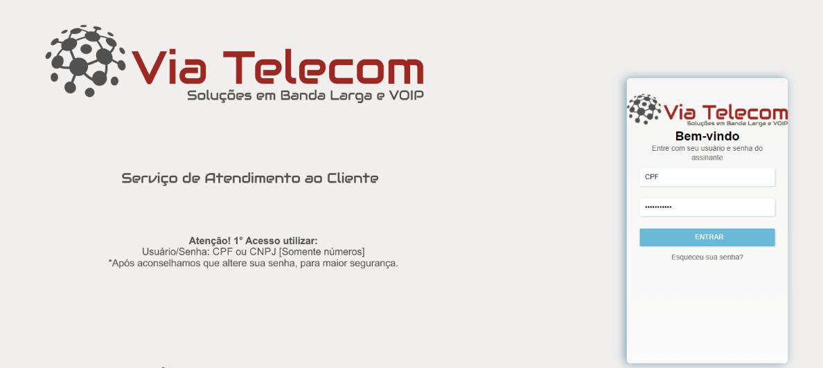 Entre no site de Telecom para baixar sua fatura