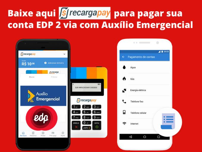 Baixe RecargaPay para pagar EDP com Auxilio Emergencial