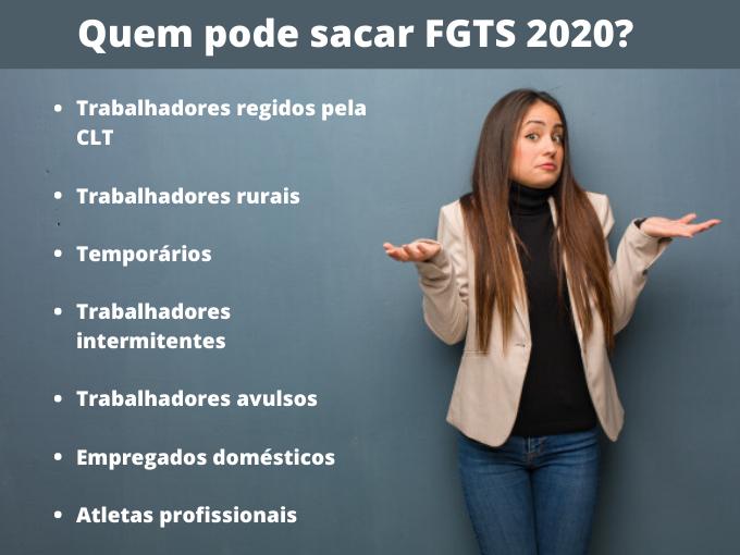 Quem pode sacar FGTS 2020_