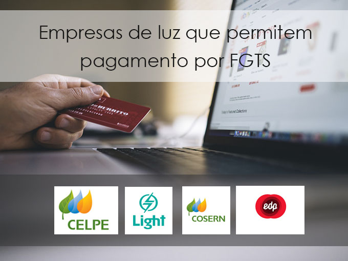Empresas de luz que permitem pagamento por FGTS