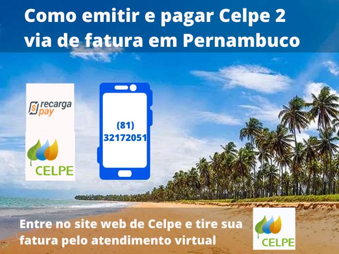 Como emitir e pagar Celpe 2 via de fatura em Pernambuco