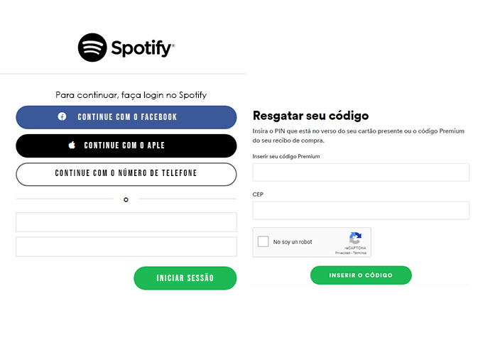 Como resgatar Gift Card do Spotify