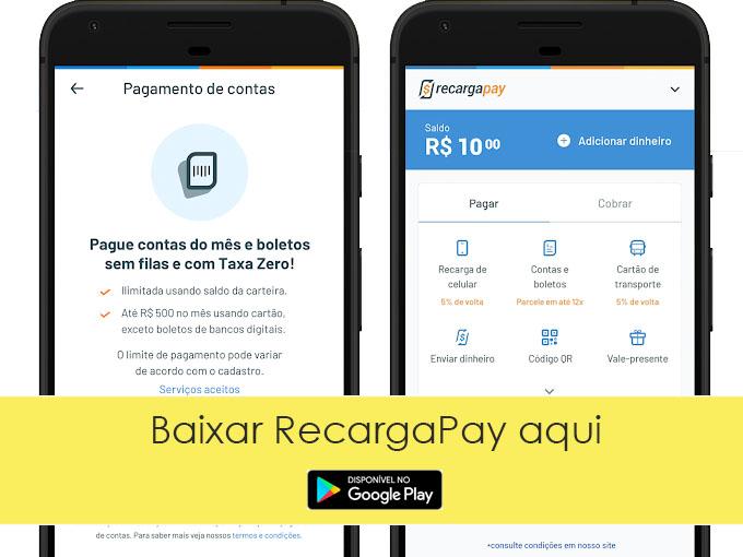 Pagar Caema 2 via com RecargaPay