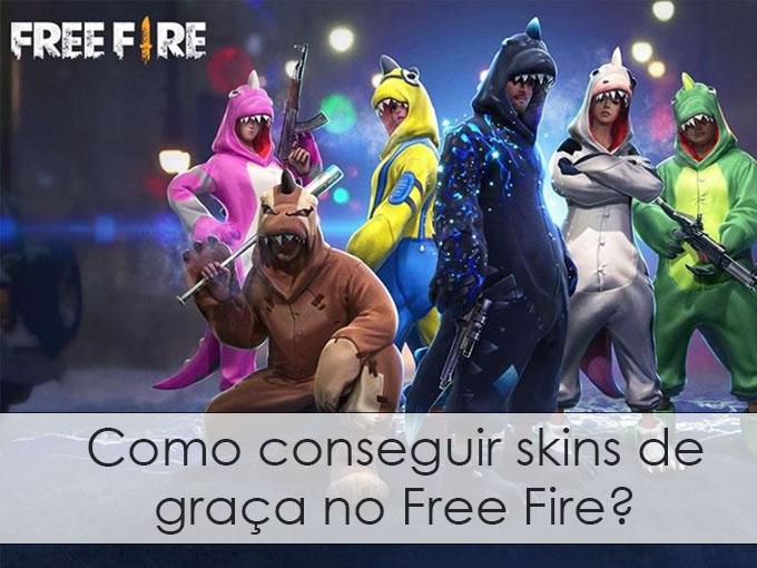 Como conseguir skins de graça no Free Fire?