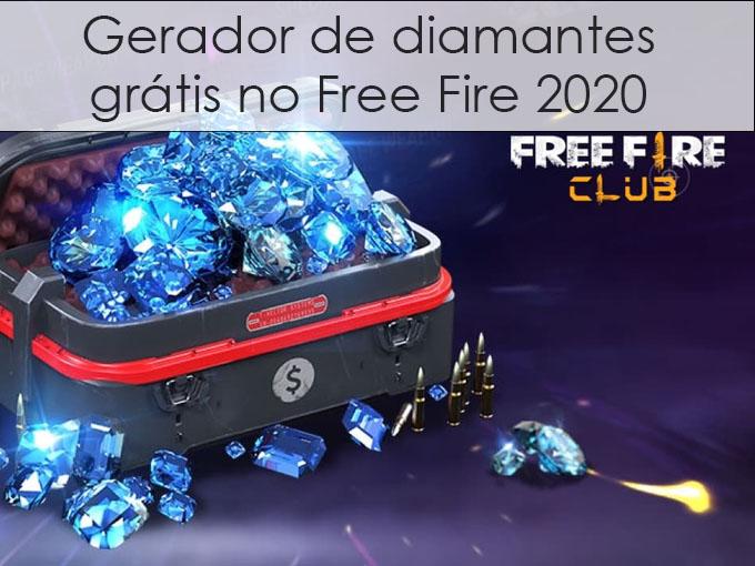 Gerador de diamantes grátis no Free Fire 2020