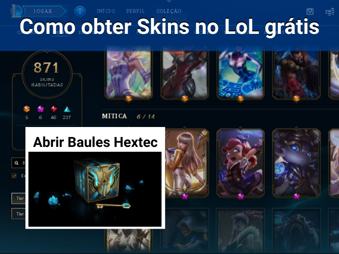 Passos para obter Skins no League of Legends