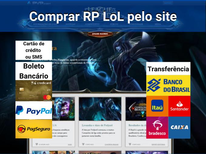 Saiba como comprar RP LoL pelo site
