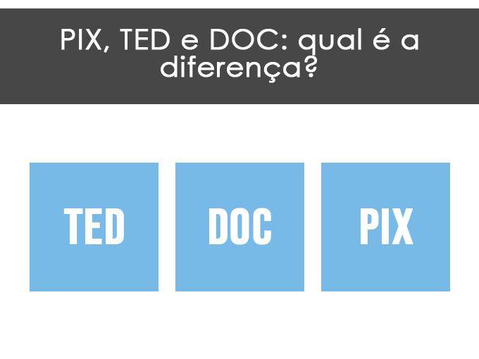 PIX, TED e DOC: qual é a diferença?