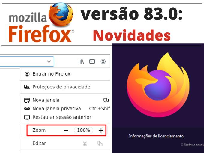 Firefox versão 83.0